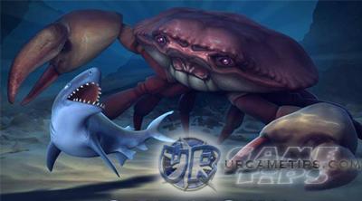Hungry shark evolution megalodon vs giant crab - photo#2