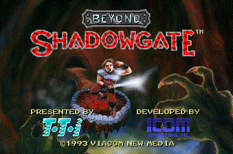 Beyond Shadowgate title screen