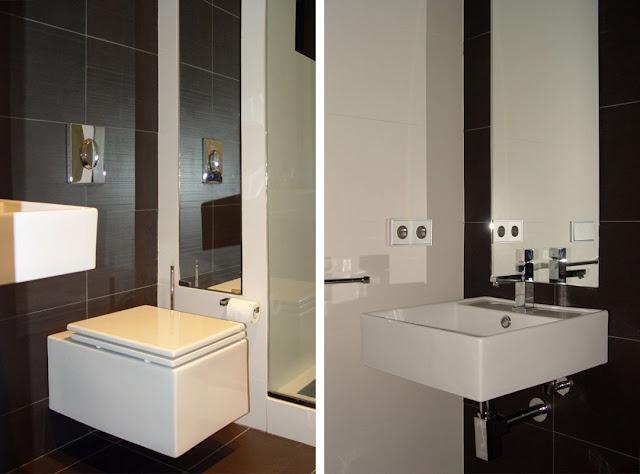 Baños Diseno Interior:Reforma interior de un apartamento minimalista en blanco y negro