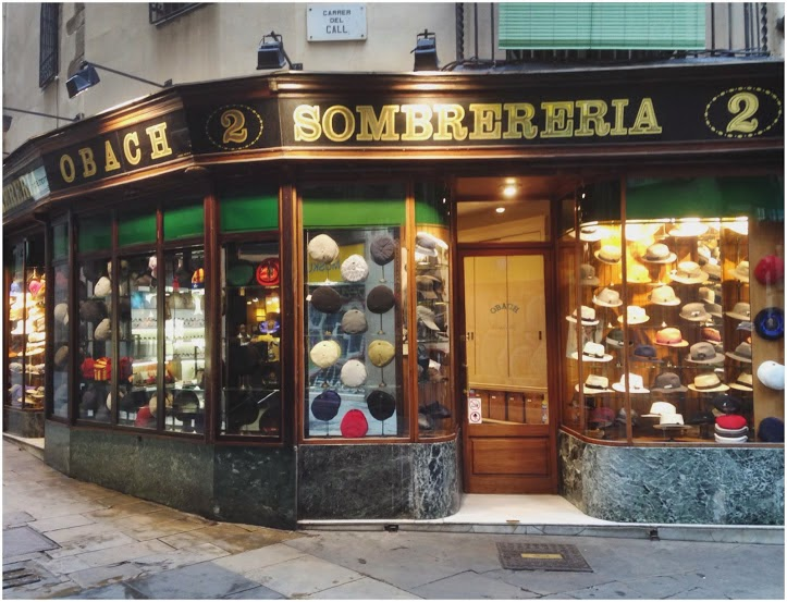 Old Fashioned Barcelona Hat Shop
