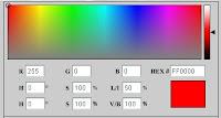 Kumpulan Kode warna html di blog