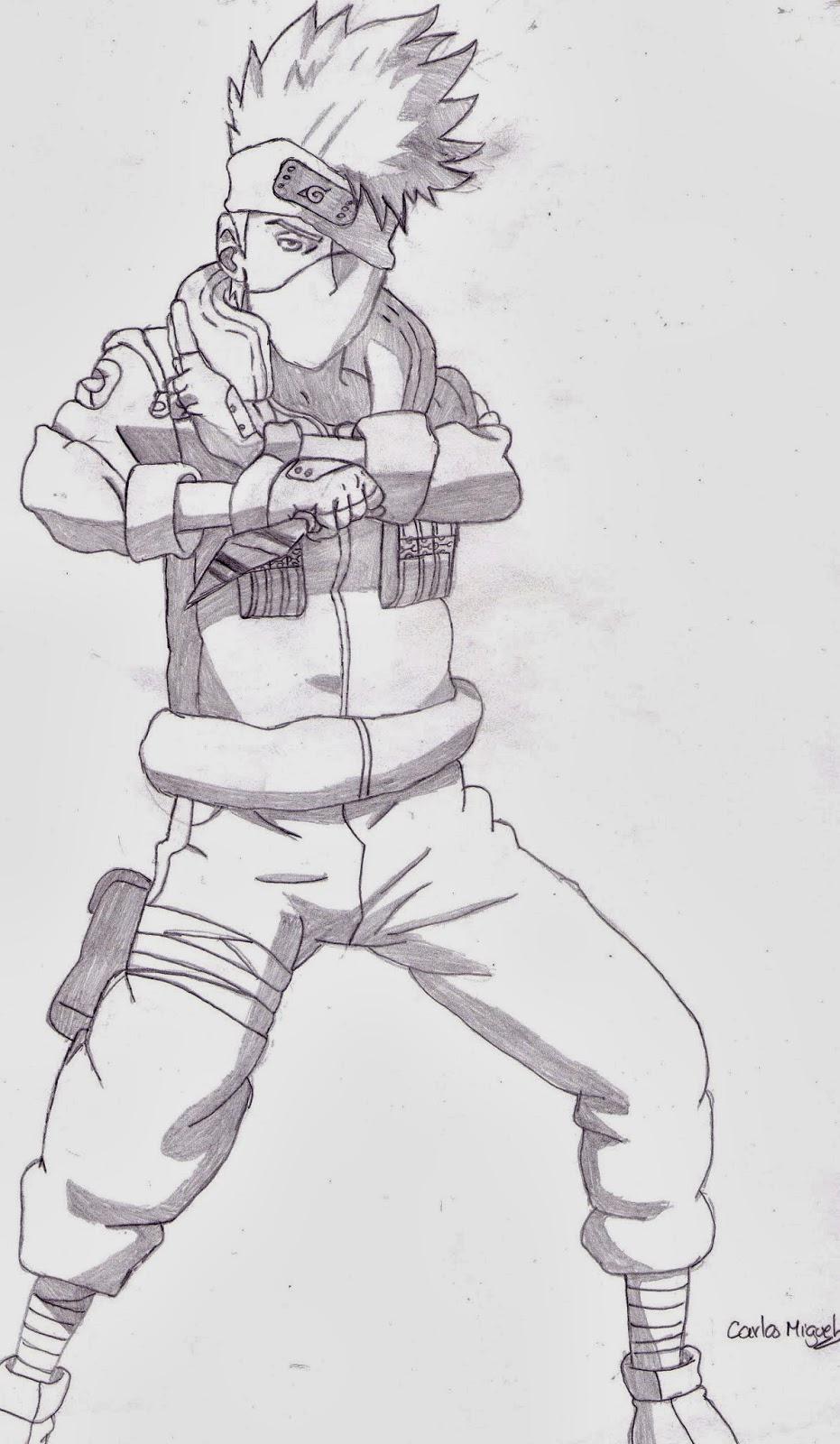 how to draw kakashi hatake full body