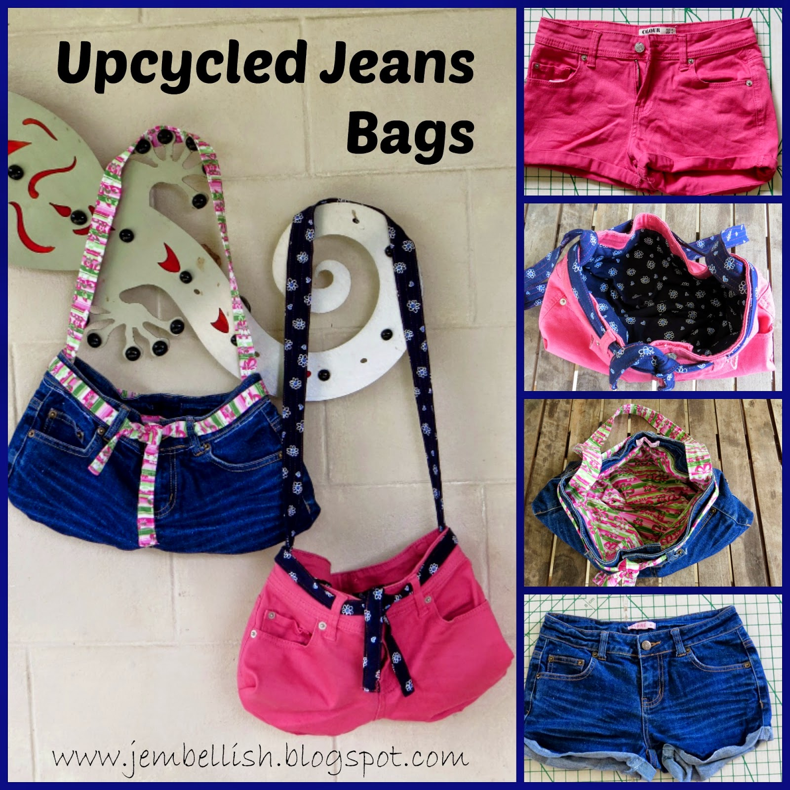 Creating My Way To Success Upcycled Jeans Bags