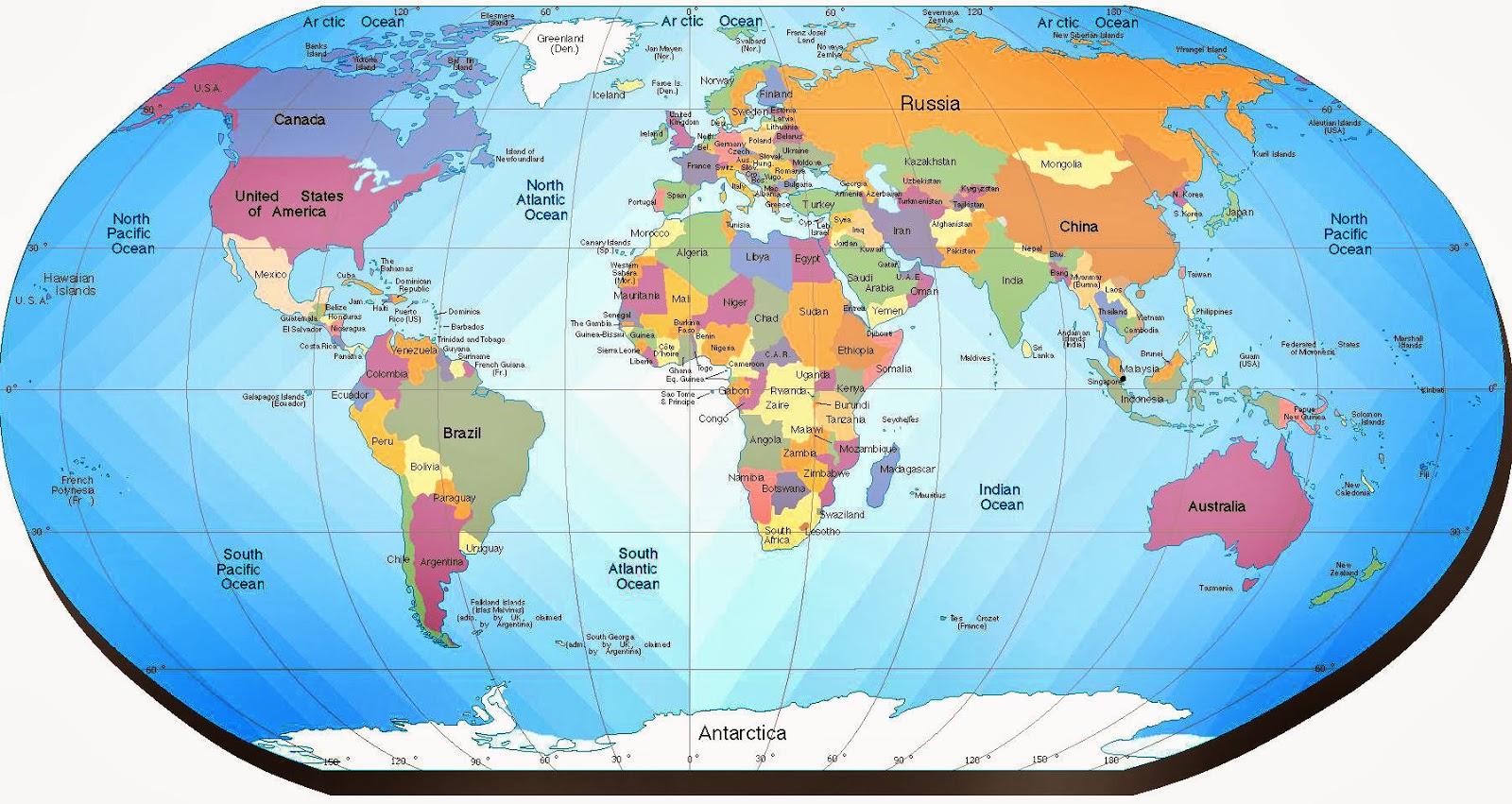 Mapa Del Mundo Mapa Mundi Para Imprimir