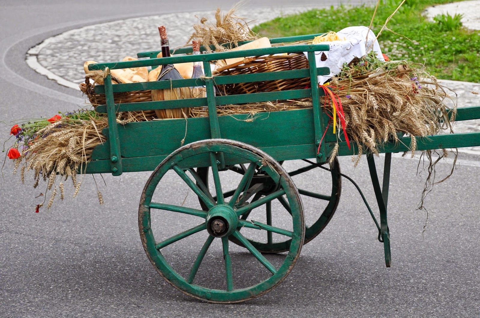A cart at the Parade, Donkey Race, Romano d'Ezzelino, Veneto, Italy