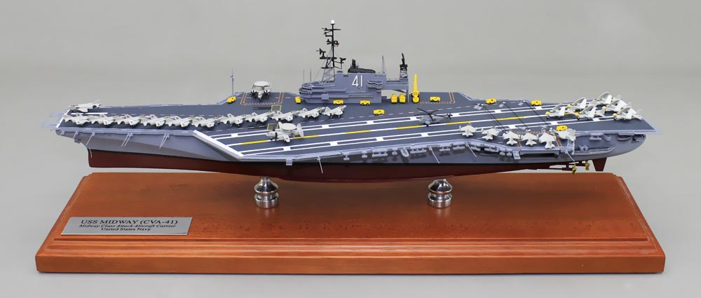 "18"" USS Midway Aircraft Carrier Model 
