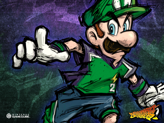 Luigi's death stare before it was cool.
