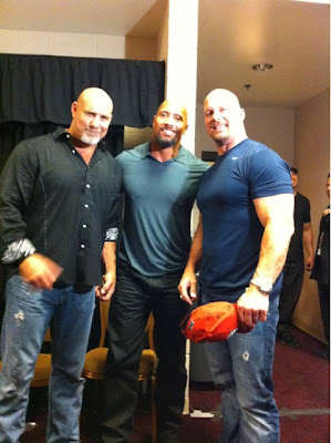 Goldberg with the rock and stone cold