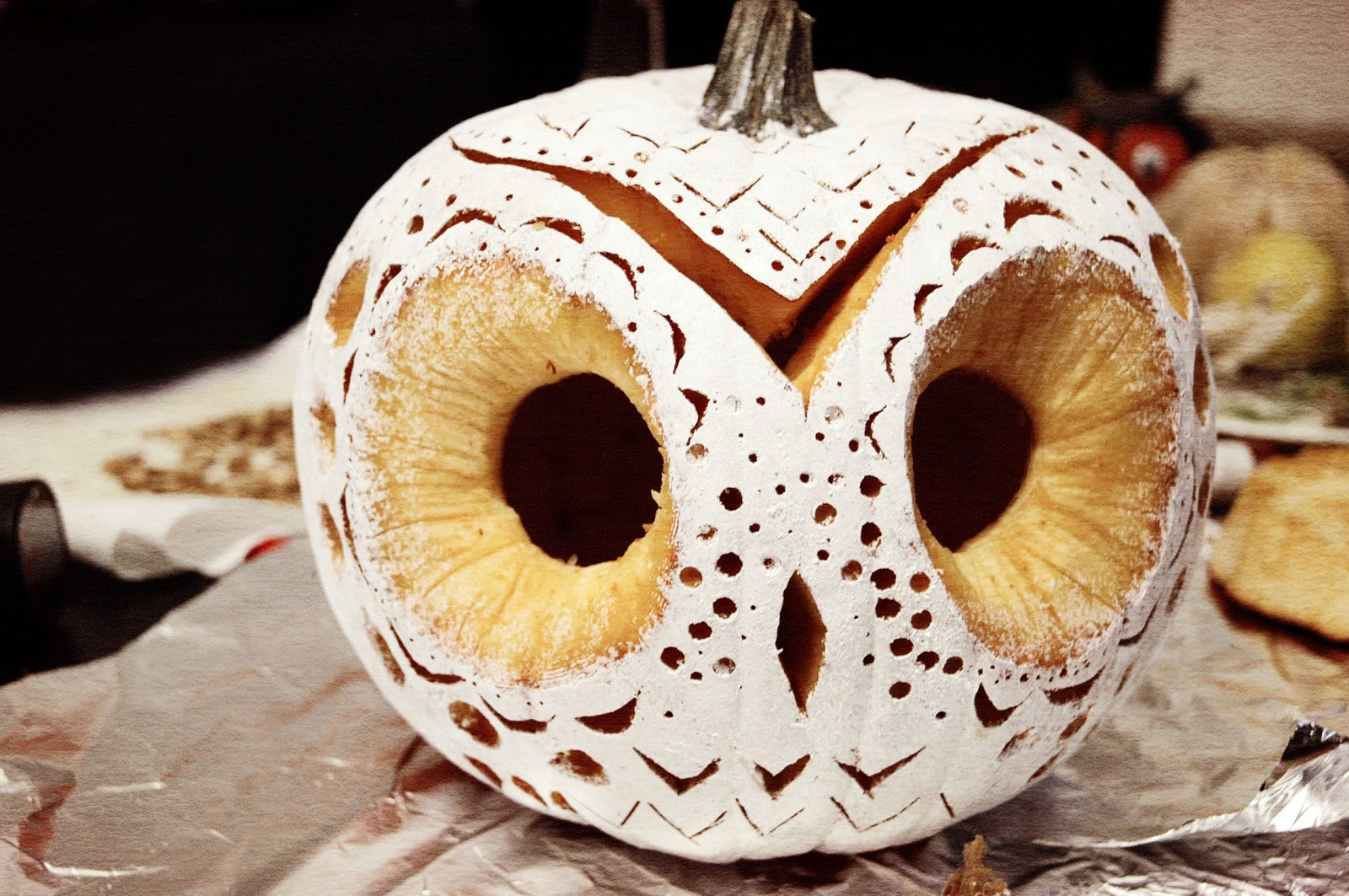 Our little burrow my very 1st diy decorative owl pumpkin step 8 admire your work for some of you this may be a job well done call it a day and throw in the towel because this owl pumpkin is complete pronofoot35fo Choice Image