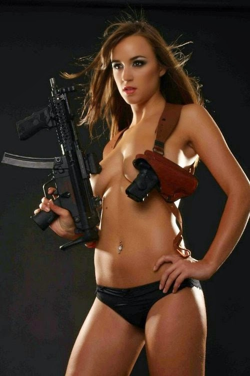 girls with guns Nude western