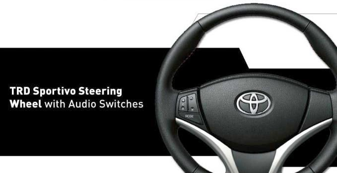 TRD Sportivo Steering Wheel with Audio Switches All New Yaris 2014