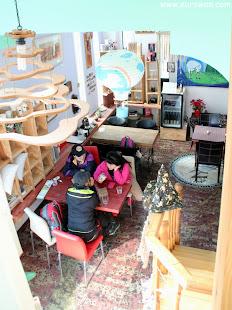 Interior de una cafetería de Daegu