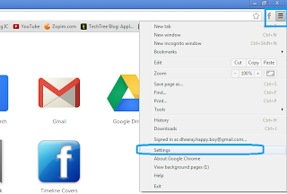 Google chrome Menu and setting Option: Intelligent Computing