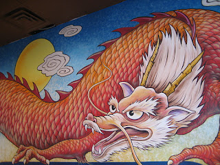 Chinese Murals With Dragon Grafiti Art