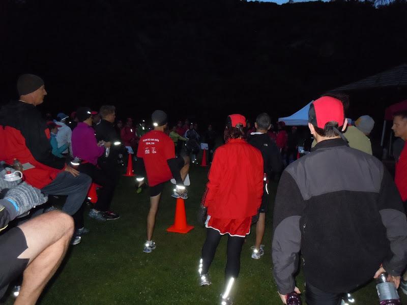 Marathon training warmup