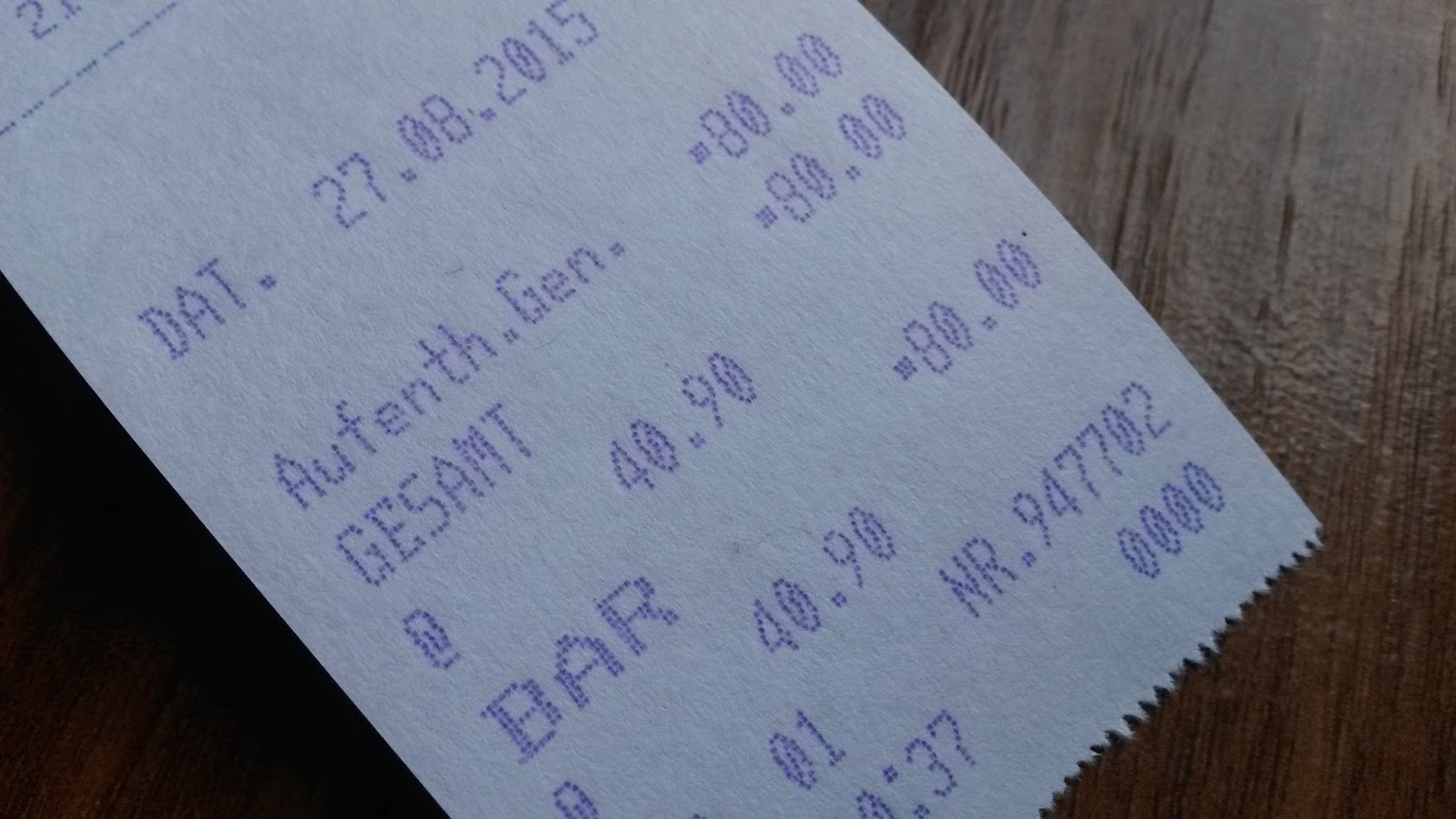 Receipt For My German Student Visaa