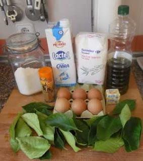 Ingredientes para los Paparajotes.