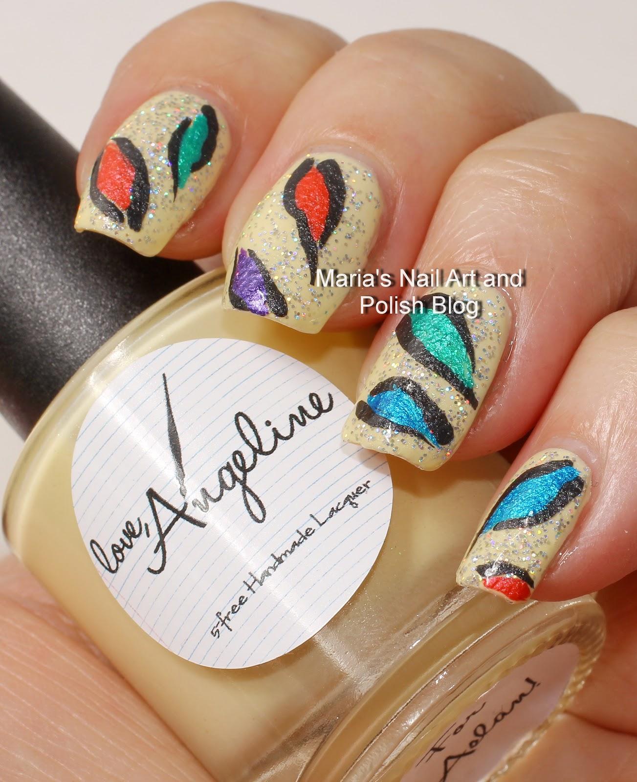 Colorful Nail Art: Marias Nail Art And Polish Blog: Colorful Abstract Nail Art