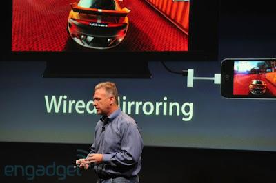 iPhone 4S com tecnologia AirPlay, para conexão entre o celular e televisão