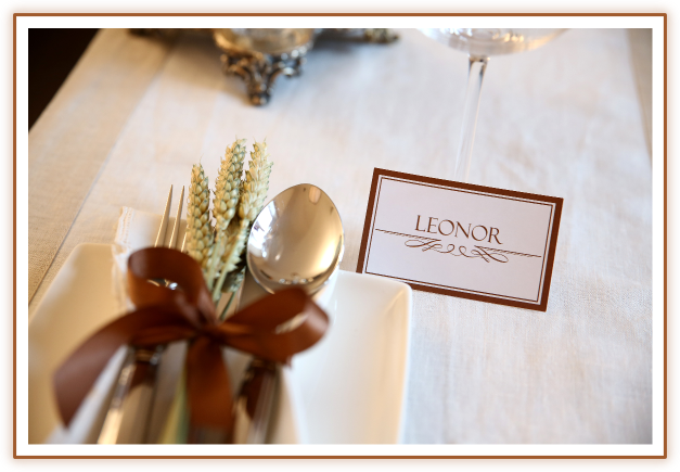 Thanksgiving table setting from BistrotChic