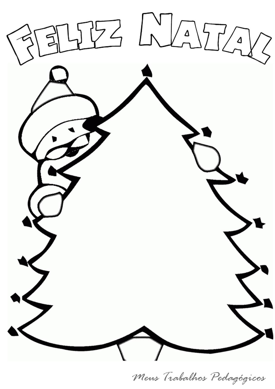 Meus Trabalhos Pedagógicos Desenhos De árvore De Natal Para Colorir