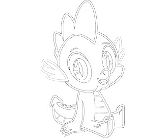 #11 Spike Coloring Page