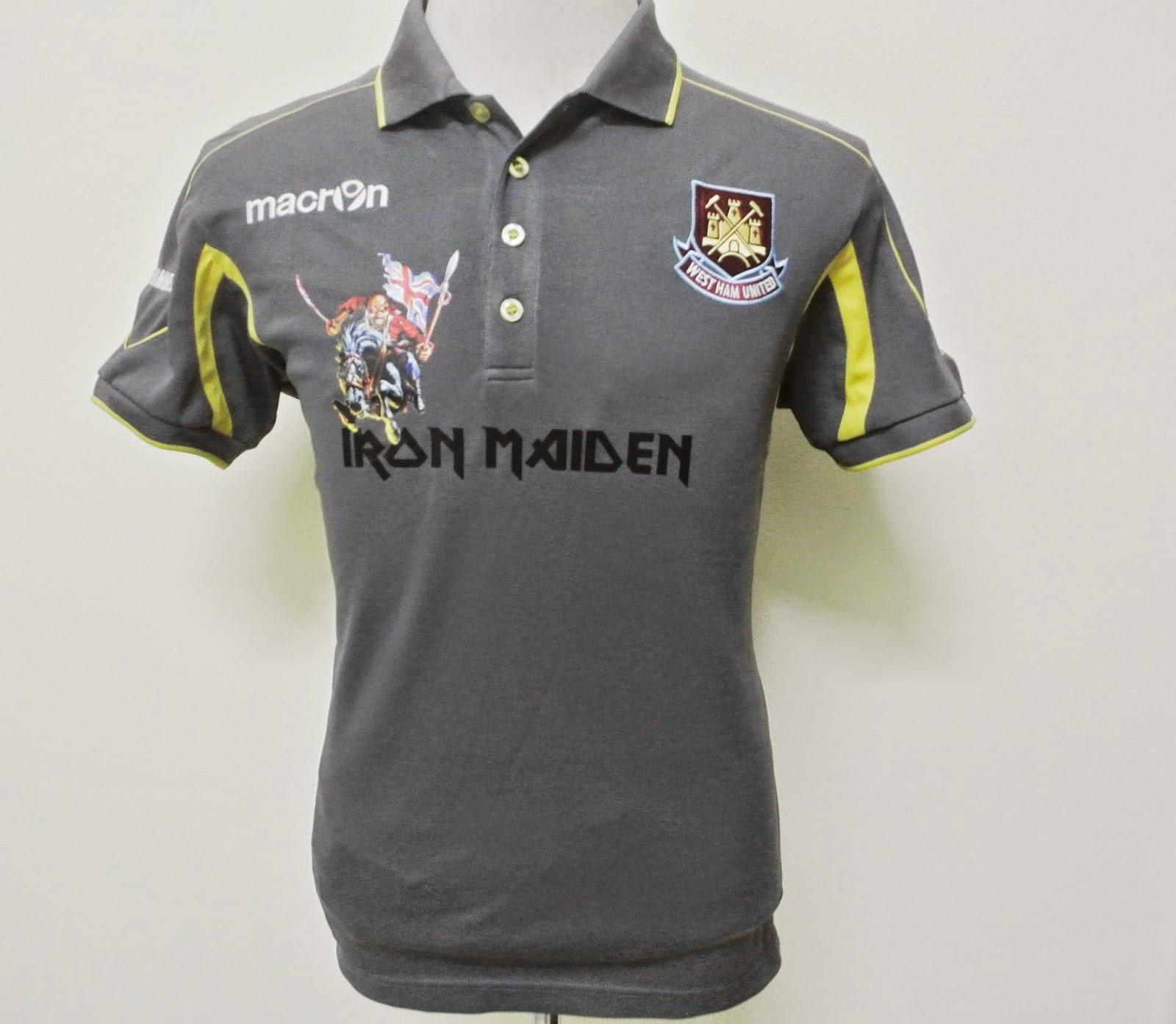 indieclothingitems: Iron maiden West Ham United Jersey