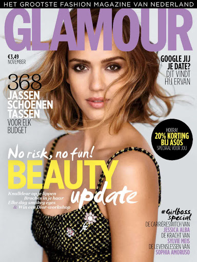Jessica Alba Glamour Magazine Netherlands November 2015 covers