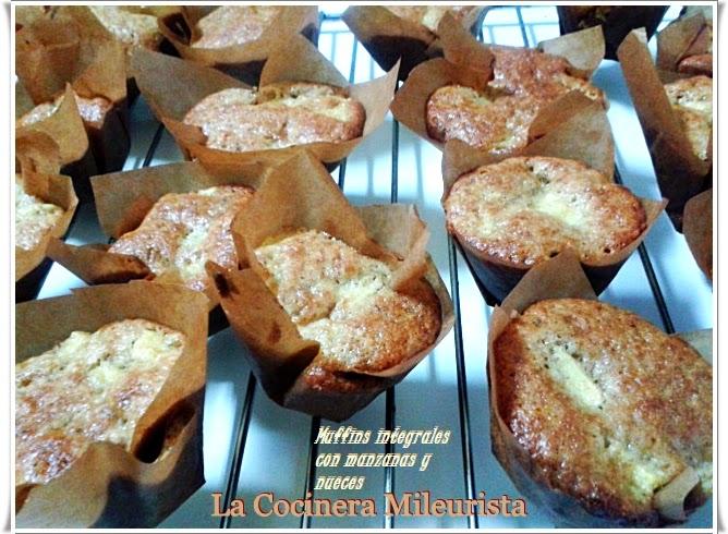 Muffins Integrales Con Manzanas Y Nueces