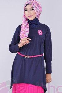 Zenitha Blus Zn114 - Dongker (Toko Jilbab dan Busana Muslimah Terbaru)