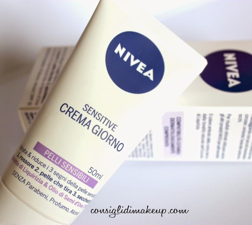nuova crema nivea pelli sensibili