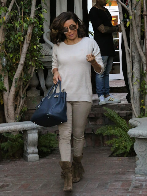 Actress, @ Eva Longoria Is seen out and about in Los Angeles on new years eve