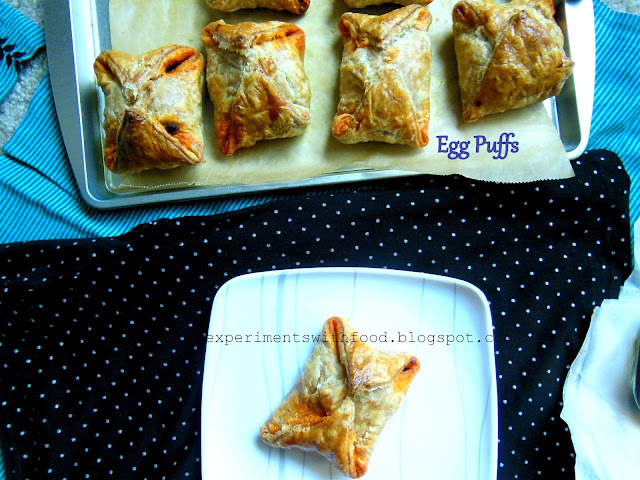 Kerala Egg Puffs with a dash of Schezwan Sauce