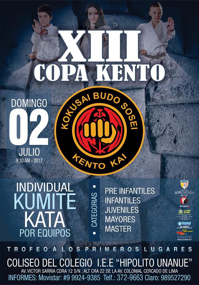 "CAMPEONATO DE KARATE ""XIII COPA KENTO""  Lima-Perù"