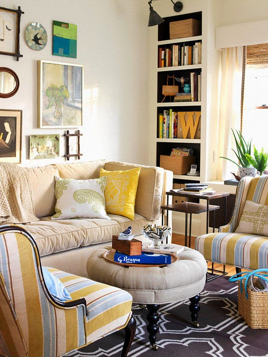 Tiny rooms need to be deft multitaskers, so this living room features ...