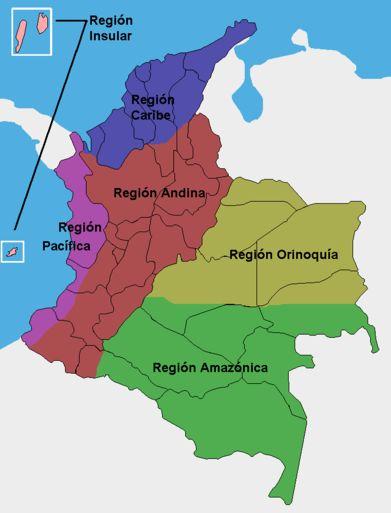 REGIONES GEOGRAFICAS Y NATURALES DE COLOMBIA 4 GRADO