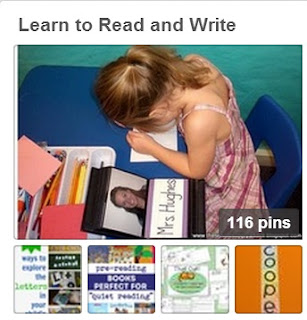 Learn to Read and Write Pinterest Board