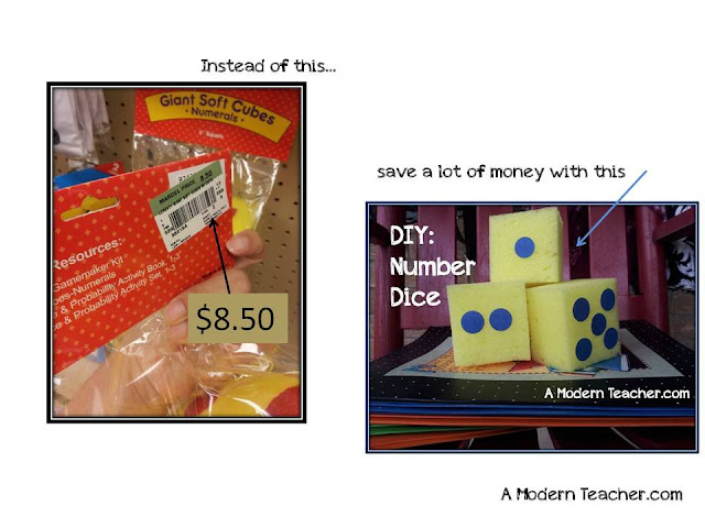 A Modern Teacher DIY Number Cubes