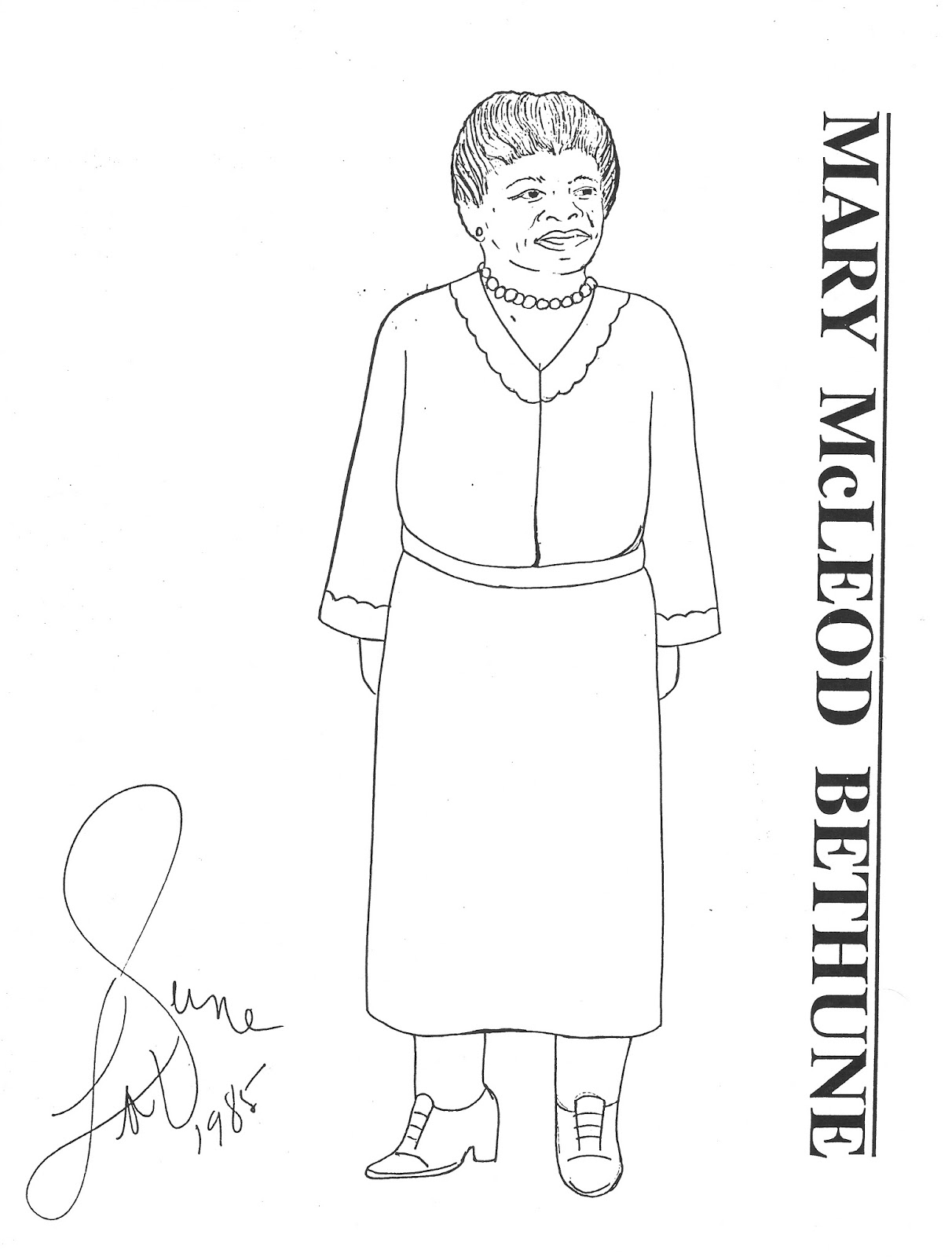 the paper collector mary mcleod bethune paper doll by laverne hall