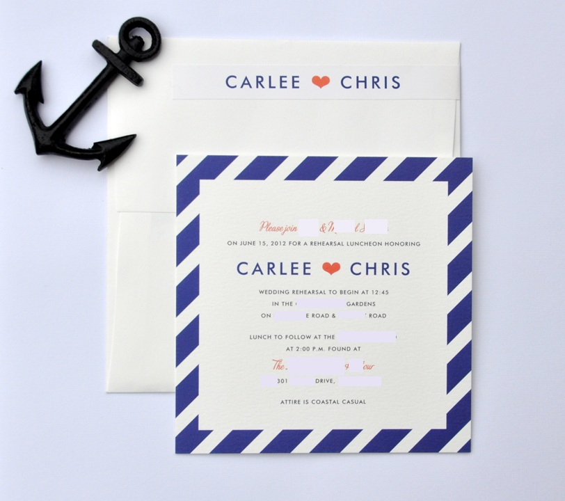 deliciously organized rehearsal luncheon invites