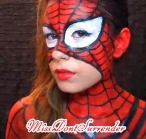 maquillaje de spider girl