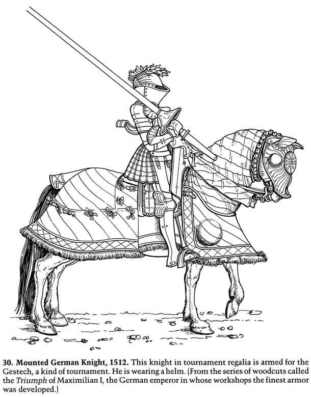 Inkspired musings knights in armour and ladies faire for Knight on horse coloring page
