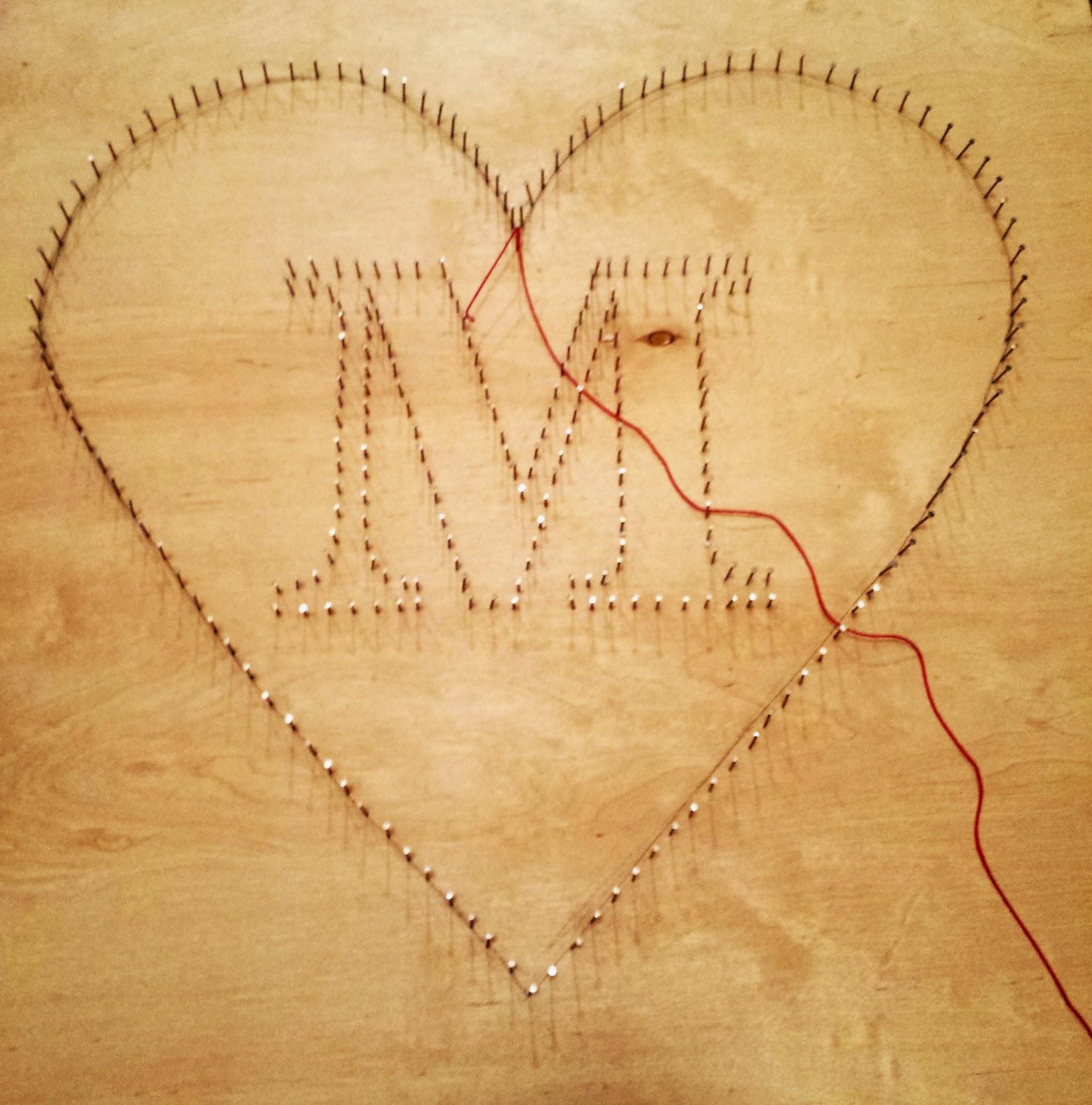 The Adventures of Mrs. Mayfield: DIY String Art Heart Tutorial