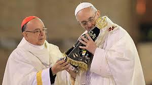 Papa e Nossa Senhora!!
