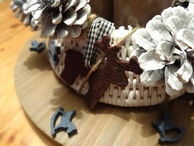 DIY-Adventskranz mit Tannenzapfen
