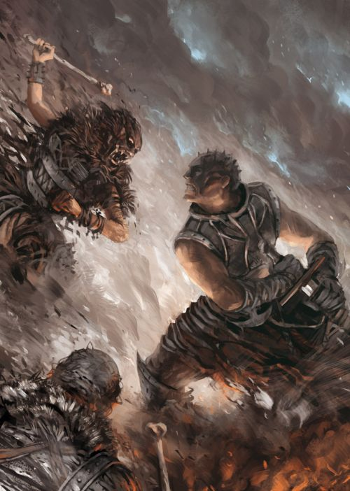 Anthony Wolff waart pinturas ilustrações digitais fantasia ficção Batalhas sangrentas
