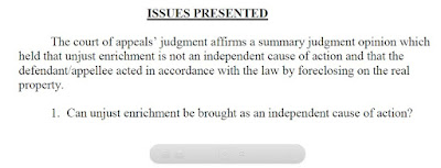 PFR on issue of whether unjust enrichment is an independent cause of action. Davis v OneWest Bank N.A. (Tex. App. - Fort Worth, April 9, 2015 pet filed)
