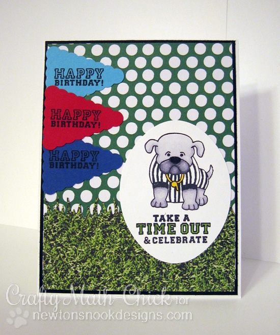 Dog referee Card by Crafty Math-Chick | Touchdown Tails stamp set by Newton's Nook Designs #newtonsnook #football