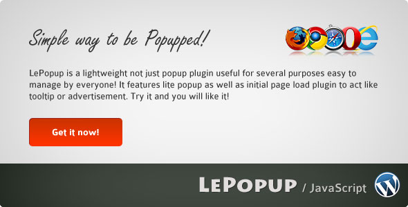Image for LePopup WordPress Plugin by CodeCanyon