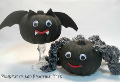 How to make a Bat Pumpkin and a Spider Pumpkin
